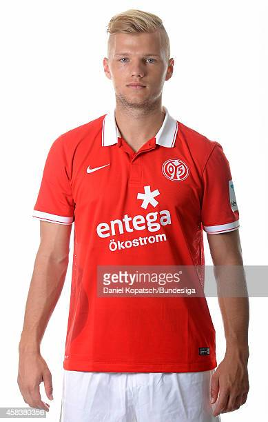 Johannes Geis poses during the DFL Media Day of 1 FSV Mainz 05 at Coface Arena on July 18 2014 in Mainz Germany