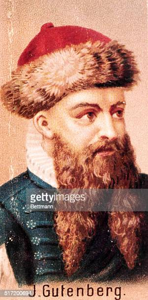 Johannes Gutenberg German printer known as the inventor of movable type