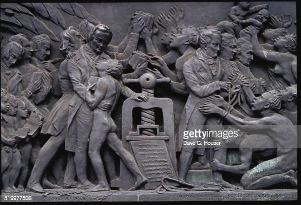 Johannes Gutenberg Relief Sculpture
