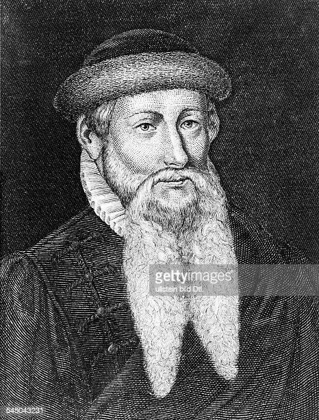 Johannes Gutenberggeboren zwischen 1394 u 139903021468Erfinder der Buchdruckkunst Portrait Stich