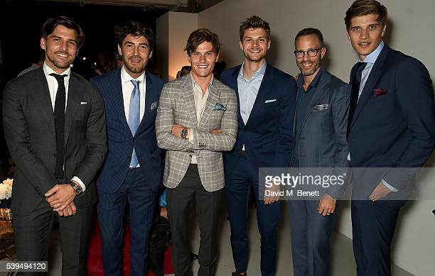Johannes Heubl Robert Konjic Oliver Cheshire Jim Chapman Andrew Weitz and Toby HuntingtonWhiteley attend the Moet NOW Or Neverland Party celebrating...