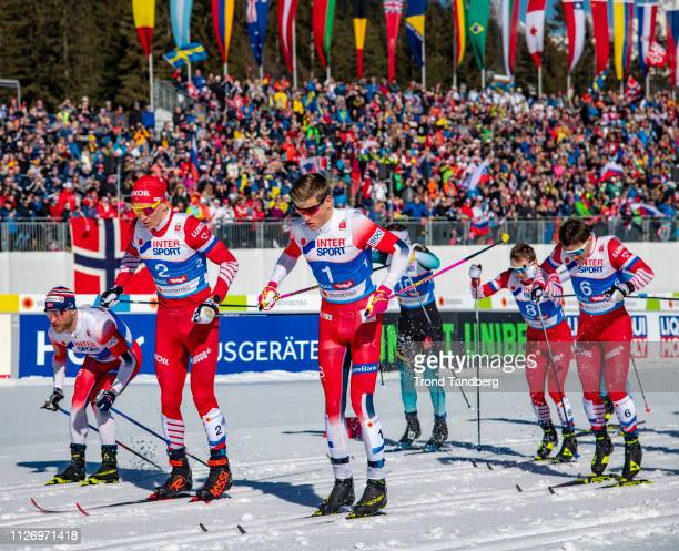 Johannes Hoesflot Klaebo of Norway Sjur Roethe of Norway Alexander Bolshunov of Russia Martin Johnsrud Sundby of Norway Andrey Melnichenko of Russia...
