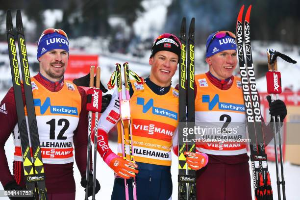 Johannes Hoesflot Klaebo of Norway takes 1st place Sergey Ustiugov of Russia takes joint 2nd place Alexander Bolshunov of Russia takes 3rd place...
