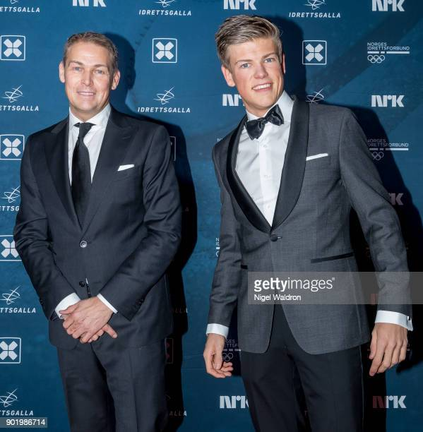 Johannes Hosflot Klaebo and Haakon Klaebo attend the Sport Gala Awards at the Olympic Amphitheater on January 6 2018 in Hamar Norway