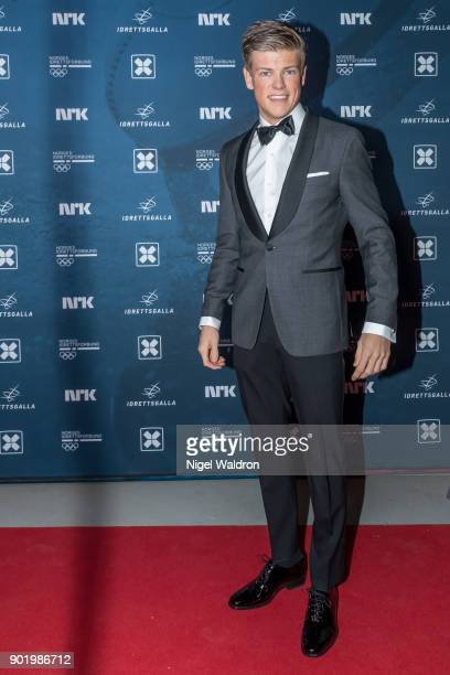 Johannes Hosflot Klaebo attends the Sport Gala Awards at the Olympic Amphitheater on January 6 2018 in Hamar Norway
