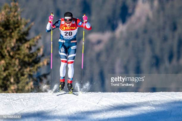 Johannes Hostflot Klaebo of Norway during Tour de Ski Men 13 Sprint Free Qualification on December 29 2018 in Toblach Hochpustertal Italy