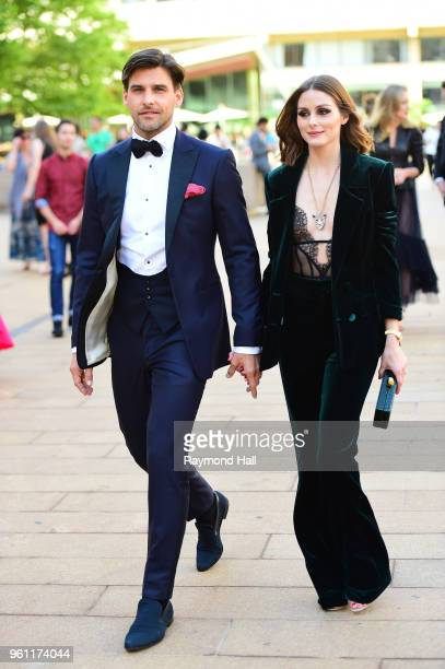 Johannes Huebl and Olivia Palermo are seen walking in Midtown on May 21 2018 in New York City
