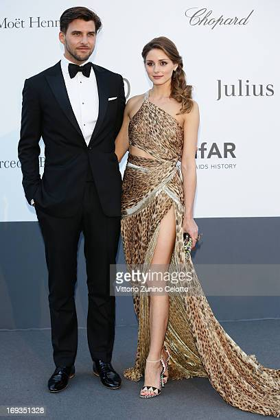 Johannes Huebl and Olivia Palermo attend amfAR's 20th Annual Cinema Against AIDS during The 66th Annual Cannes Film Festival at Hotel du CapEdenRoc...