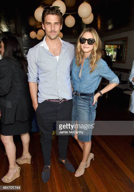 Johannes Huebl and Olivia Palermo attend the Gant Rugger presentation during MercedesBenz Fashion Week Spring 2015 at Maritime Hotel on September 5...