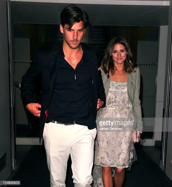 Johannes Huebl and Olivia Palermo leave the 'I Don't Know How She Does It' premiere after party at Hudson Hotelon on September 12 2011 in New York...