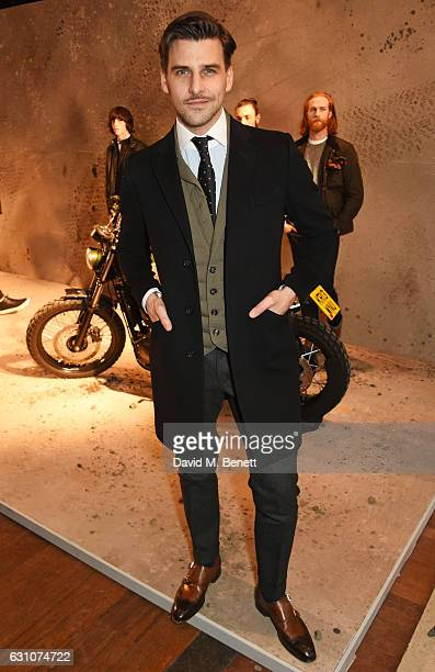 Johannes Huebl attends the Barbour International presentation during London Fashion Week Men's January 2017 collections at RIBA on January 6 2017 in...