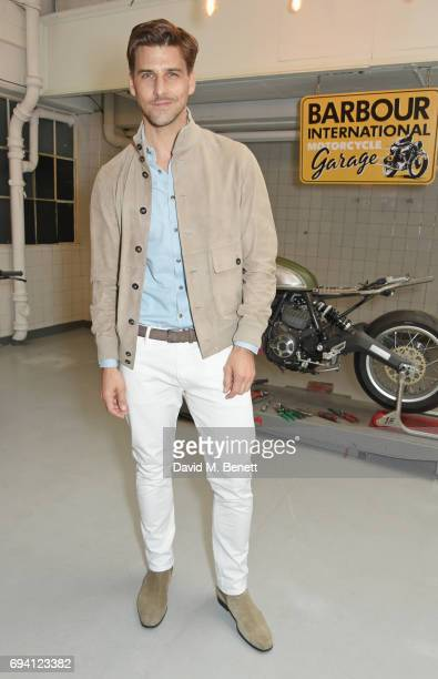 Johannes Huebl attends the Barbour International presentation during the London Fashion Week Men's June 2017 collections on June 9, 2017 in London,...