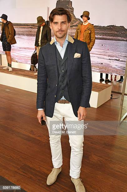 Johannes Huebl attends the Barbour presentation during The London Collections Men SS17 at on June 10 2016 in London England