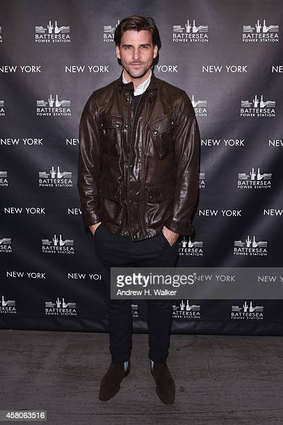 Johannes Huebl attends the Battersea Power Station launch party to celebrate the launch of its Global Tour at Canoe Studios on October 29 2014 in New...