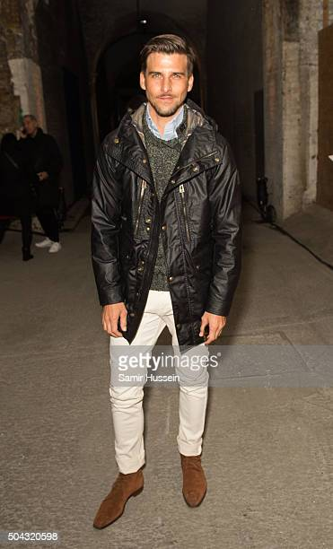 Johannes Huebl attends the Belstaff presentation during The London Collections Men AW16 at on January 10 2016 in London England