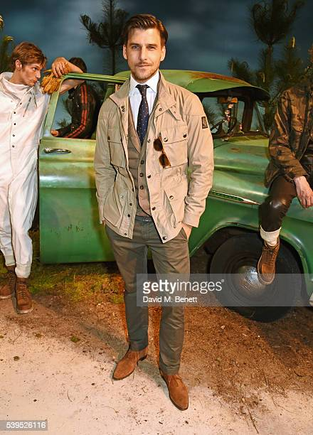 Johannes Huebl attends the Belstaff presentation during The London Collections Men SS17 at QEII Centre on June 12 2016 in London England