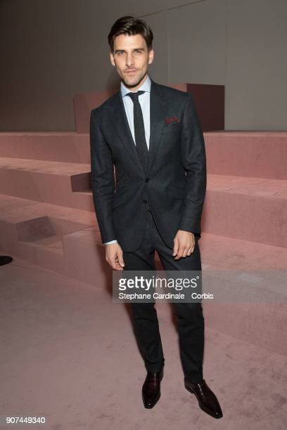 Johannes Huebl attends the Berluti Menswear Fall/Winter 20182019 show as part of Paris Fashion Wee January 19 2018 in Paris France