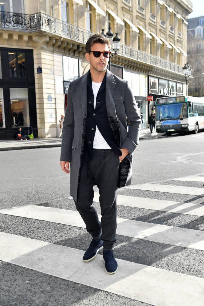 FRA: Berluti : Outside Arrivals - Paris Fashion Week - Menswear F/W 2020-2021