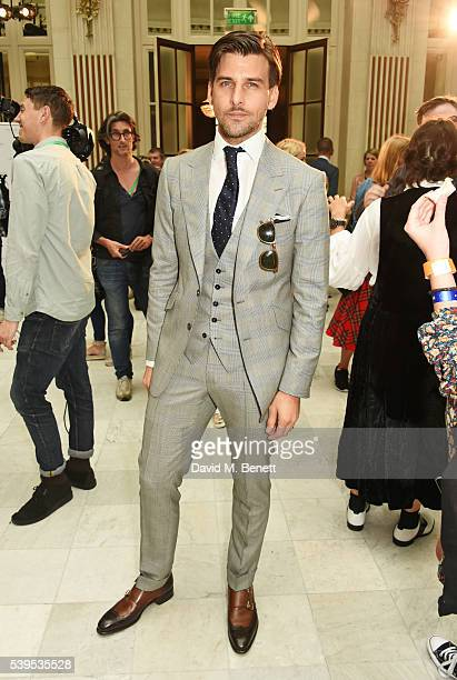 Johannes Huebl attends the Chester Barrie presentation during The London Collections Men SS17 on June 12 2016 in London England