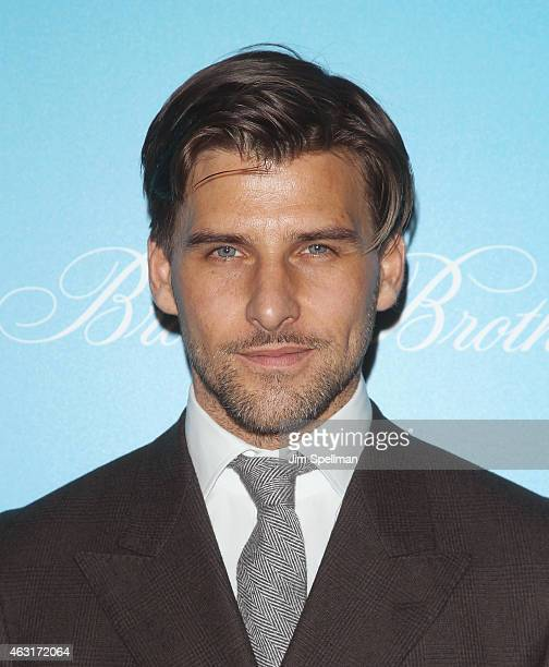 """Johannes Huebl attends The Cinema Society and Brooks Brothers host a screening of """"The Rewrite"""" at Landmark's Sunshine Cinema on February 10, 2015 in..."""