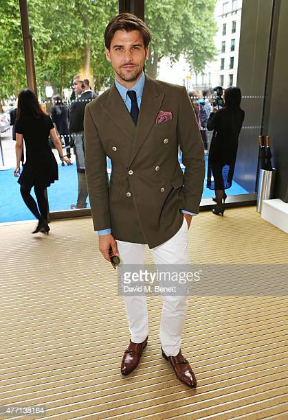 Johannes Huebl attends the dunhill and GQ style presentation to celebrate LCM SS16 at Phillips Gallery on June 14 2015 in London England