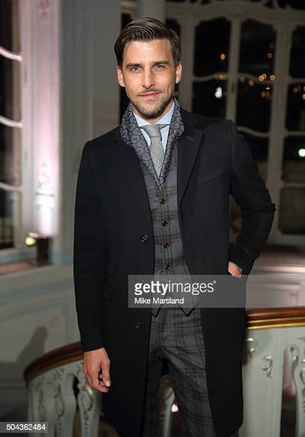 Johannes Huebl attends the dunhill Presentation during The London Collections Men AW16 at The Savile Club on January 10 2016 in London England