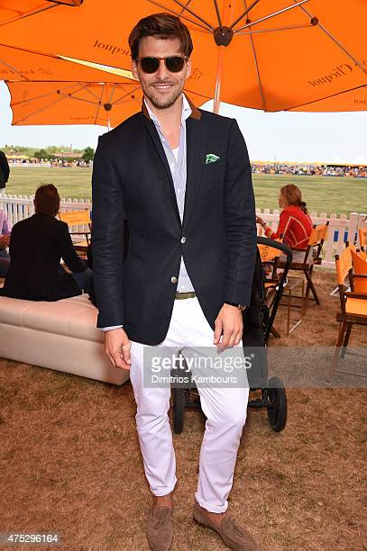 Johannes Huebl attends the EighthAnnual Veuve Clicquot Polo Classic at Liberty State Park on May 30 2015 in Jersey City New Jersey