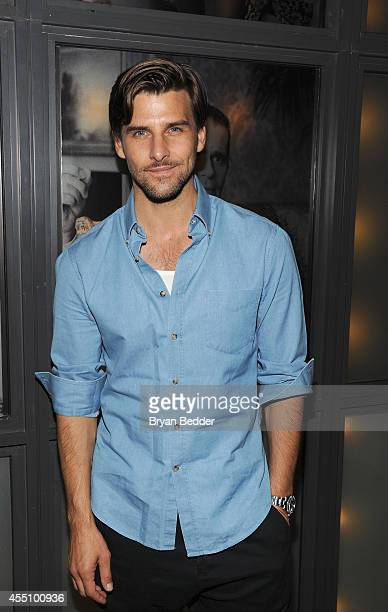 Johannes Huebl attends the GQ Fashion Week Party At The Wythe Hotel on September 9 2014 in Brooklyn New York