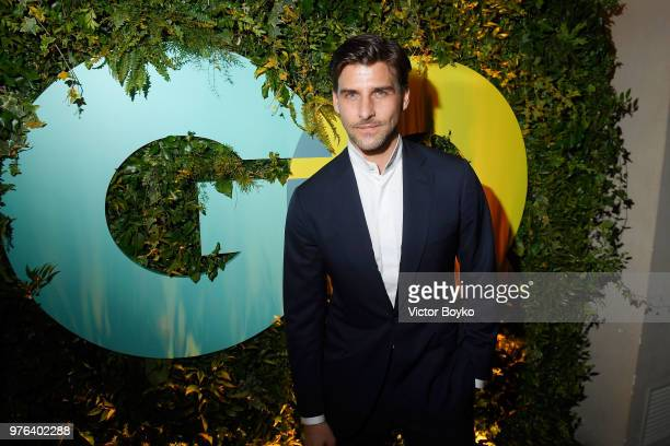 Johannes Huebl attends the GQ Milan Cocktail Party during Milan Men's Fashion Week Spring/Summer 2018/19 on June 16 2018 in Milan Italy