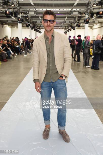 Johannes Huebl attends the ICEBERG show during London Fashion Week Men's June 2019 at the BFC Show Space on June 8 2019 in London England