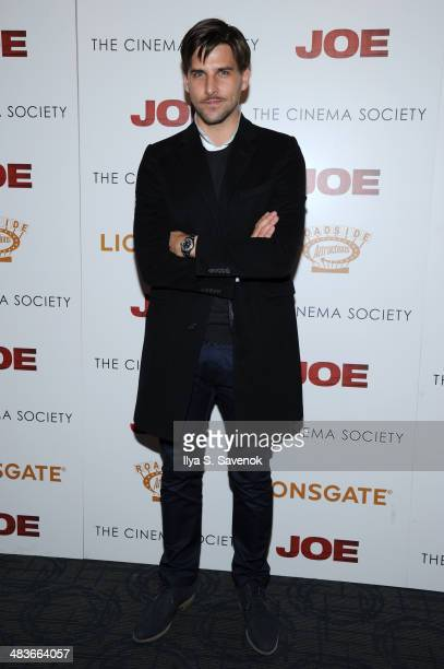 Johannes Huebl attends the 'Joe' screening hosted by Lionsgate and Roadside Attractions with The Cinema Society at Landmark Sunshine Cinema on April...