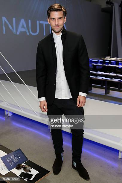 Johannes Huebl attends the Nautica Men's Fall 2016 fashion show during New York Fashion Week Men's Fall/Winter 2016 at Skylight Modern on February 2,...