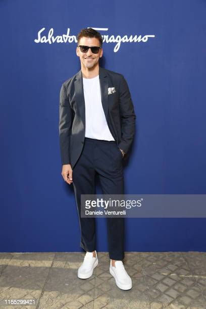 Johannes Huebl attends the Salvatore Ferragamo show during Pitti Immagine Uomo 96 on June 11 2019 in Florence Italy