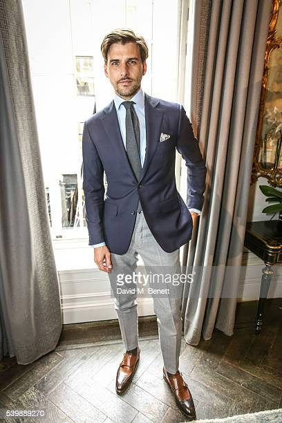Johannes Huebl attends the Thom Sweeney presentation during The London Collections Men SS17 at The Arts Club on June 13 2016 in London England