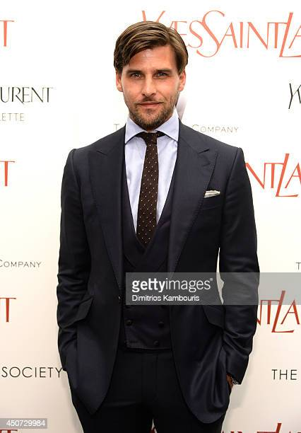 Johannes Huebl attends The Weinstein Company's 'Yves Saint Laurent' premiere hosted by Yves Saint Laurent Couture Palette The Cinema Society at...