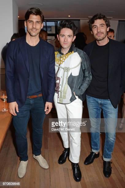 Johannes Huebl Daniel W Fletcher and Robert Konjic attend the London Fashion Week Men's cocktail party with DANIEL w FLETCHER and Christian Louboutin...