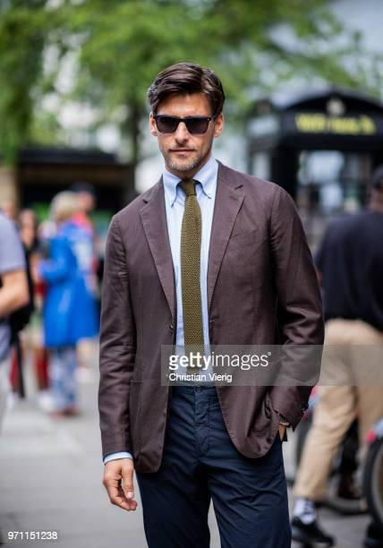 Johannes Huebl is seen during London Fashion Week Men's June 2018 on June 10 2018 in London England
