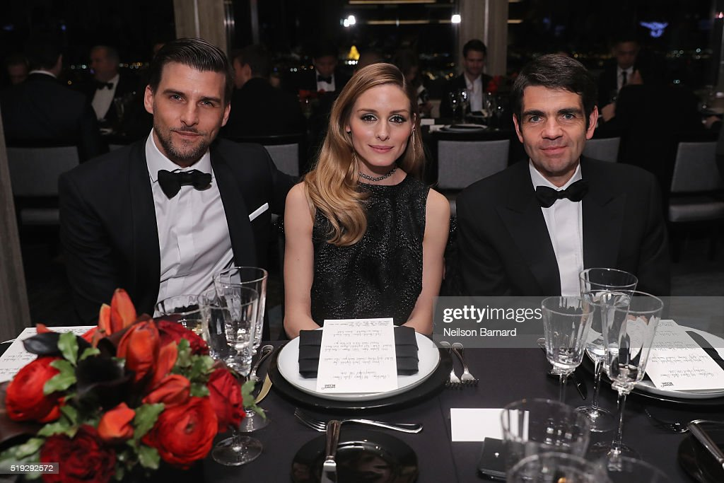 Johannes Huebl, Olivia Palermo, and Montblanc CEO Jérôme Lambert attend the Montblanc 110 Year Anniversary Gala Dinner on April 5, 2016 in New York City.