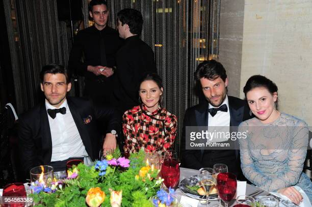 Johannes Huebl Olivia Palermo Thomas Dunn and Tiler Peck attends New York City Ballet 2018 Spring Gala at David H Koch Theater Lincoln Center on May...