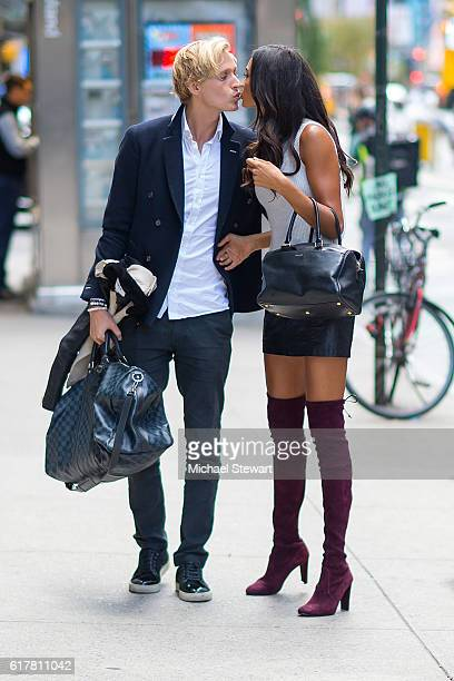 Johannes Jarl and model Kelly Gale attend the 2016 Victoria's Secret Fashion Show call backs on October 24 2016 in New York City
