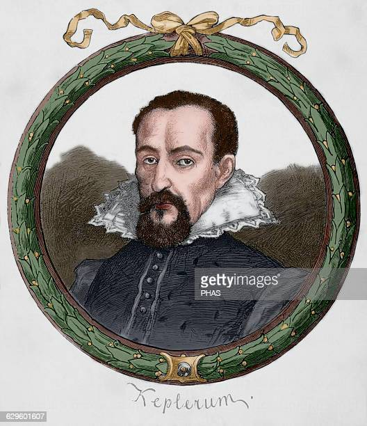 Johannes Kepler German mathematician and astronomer Engraving in Germania 1882 Colored