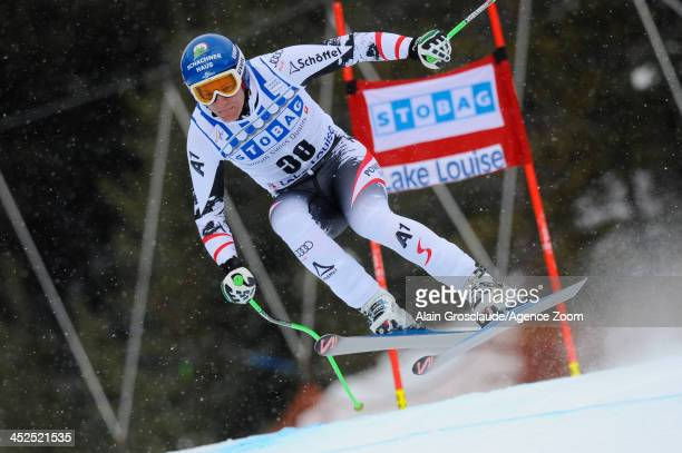 Johannes Kroell of Austria competes during the Audi FIS Alpine Ski World Cup Men's Downhill Training on November 29 2013 in Lake Louise Canada