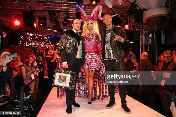 "Johannes Laschet, Rosanna Davison, daughter of Chris de Burg and model Jeremy Meeks during the Lambertz Monday Night 2020 ""Wild Chocolate Party"" on..."