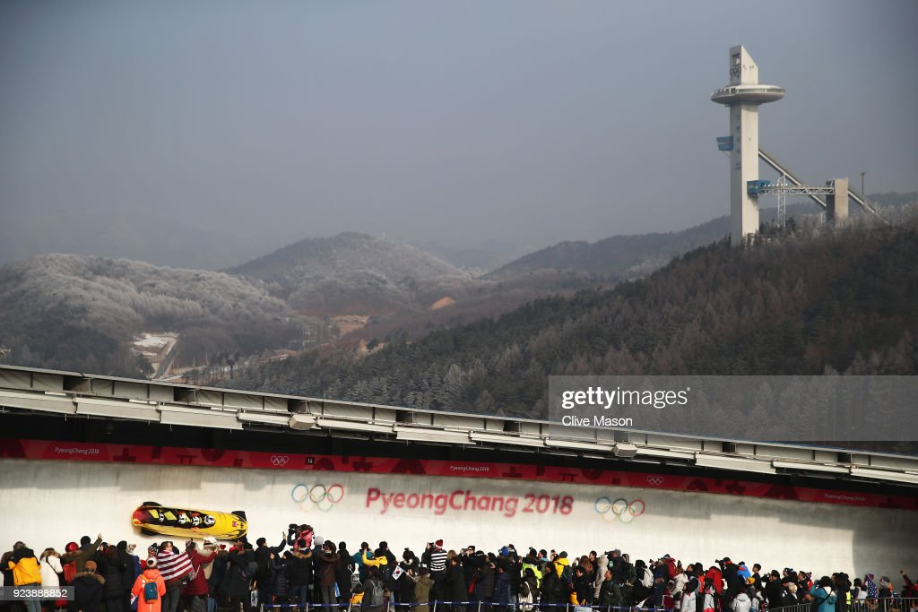 KOR: Bobsleigh - Winter Olympics Day 16