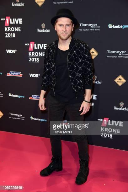 Johannes Oerding arrives at the 1Live Krone radio award red carpet at Jahrhunderthalle on December 6 2018 in Bochum Germany