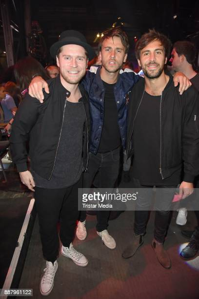 Johannes Oerding Clueso and Max Giesinger attend the 1Live Krone radio award at Jahrhunderthalle on December 7 2017 in Bochum Germany