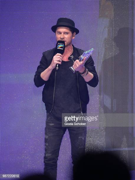 Johannes Oerding with award during the Radio Regenbogen Award 2018 at Europapark Rust on March 23 2018 in Rust Germany