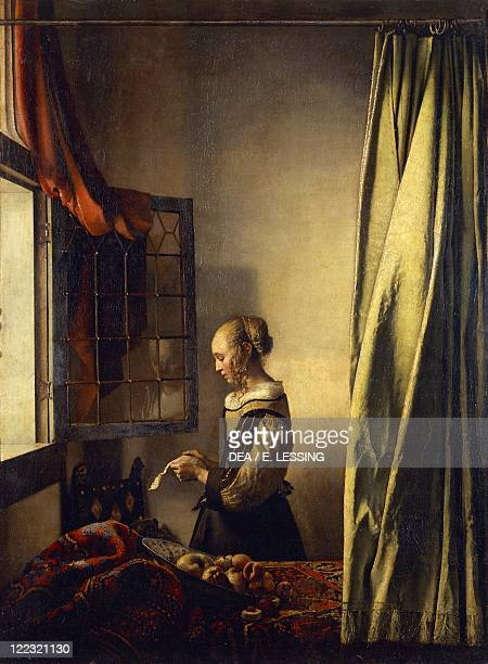 Johannes or Jan Vermeer A Girl Reading a Letter by an Open Window oil on canvas 83x645 cm