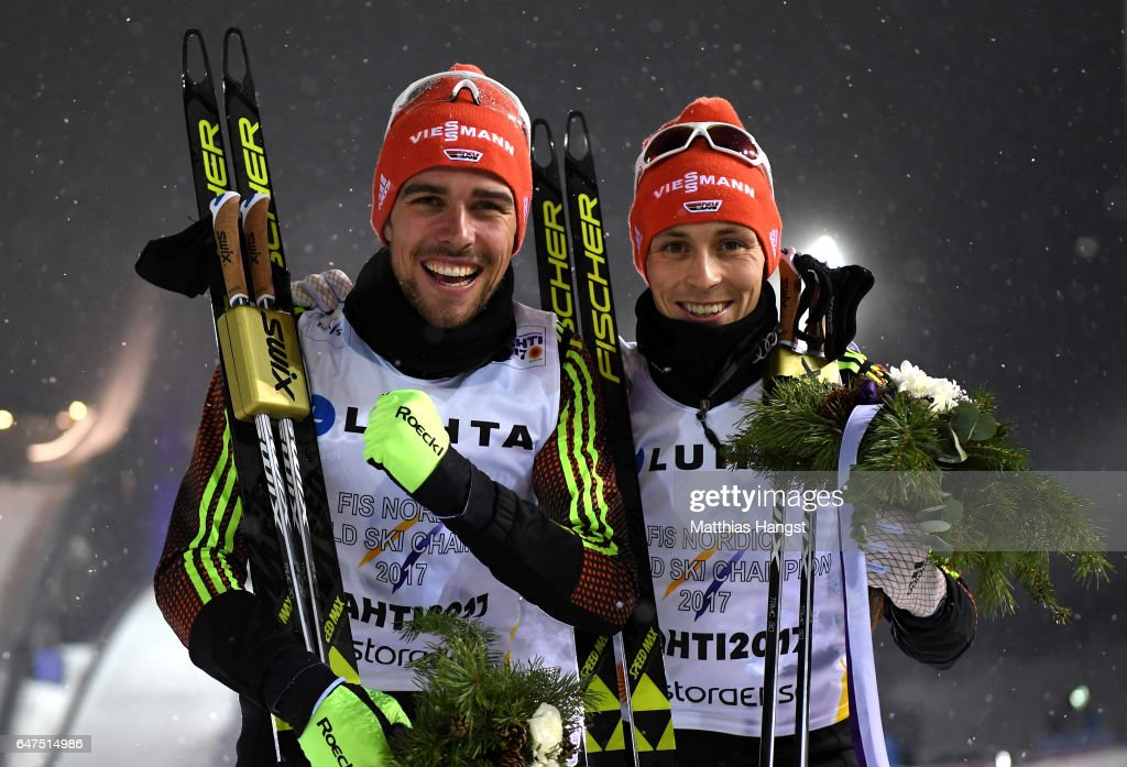 Men's Nordic Combined HS130 Team Sprint - FIS Nordic World Ski Championships : News Photo