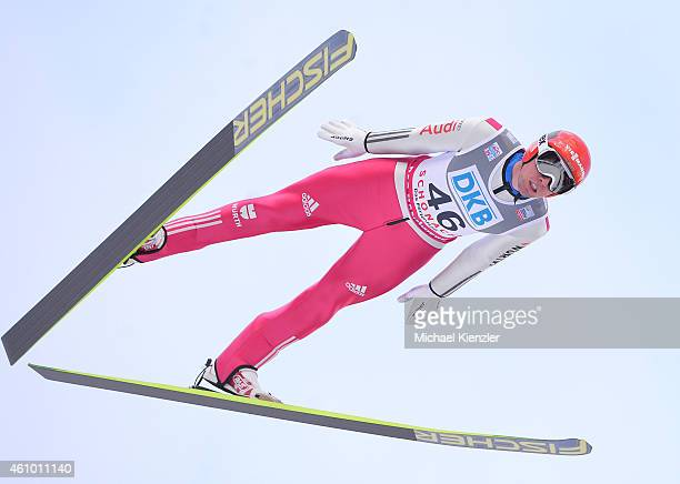 Johannes Rydzek of Germany competes during Day Two of the FIS Nordic Combined World Cup HS 106 Team Competition on January 4 2015 in Schonach Germany